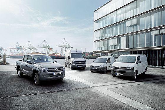 Die Volkswagen Modelle Amarok, Crafter, Caddy und T5 sind im europäischen Markt erfolgreich. (Foto: Volkswagen)