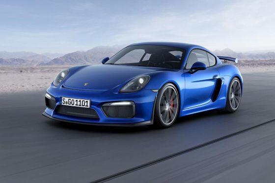 Neue, spannende Fahrzeuge aus Deutschland halten die Nachfrage national und international hoch. Im Bild der neue Porsche Cayman GT4. (Foto: Porsche)